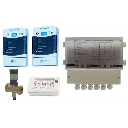 САКЗ-МК-3 (с диспетчеризацией котельной) для клапана на 40 В, на 220 В